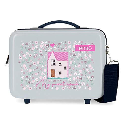 Enso My Sweet Home Adaptable Toiletry Bag, Blue, 29 x 21 x 15 cm, Rigid ABS 9.14 L