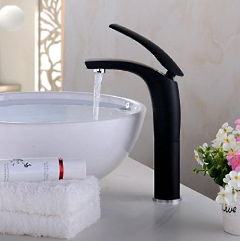Diongrdk Black Water Faucet, Basin, Single Hole, Creative Faucet, Black European Style Bathroom Cabinet Faucet, color Baking,B