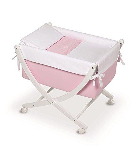 Bimbi Elite – Bébé, 68 x 83 x 76 cm, blanc et rose