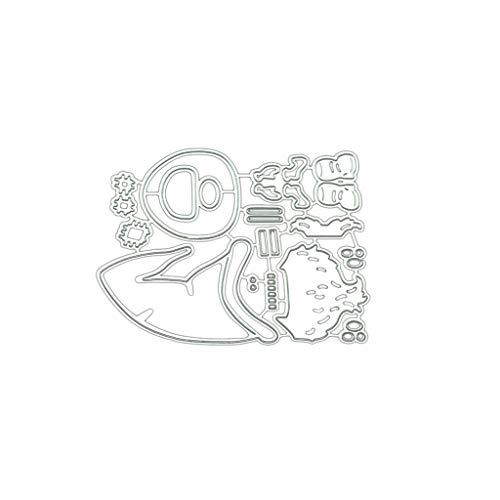zhiwenCZW Sisha Claus - Plantilla de troquelado de metal para álbumes de recortes, decoración de tarjetas de papel