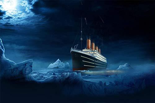 ZSMPU Puzzle 1000 Stück Titanic Im EIS Klassisches Puzzle 3D Puzzle DIY Kit Holzspielzeug Einzigartiges Geschenk Wohnkultur