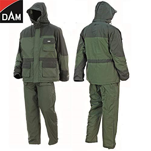 My-Fishing-World Dam Dura Thermo Anzug - Winter Thermoanzug - Outdoor Angelanzug - Jacke + Hose Deluxe Outdoor Anzug, inkl. Gratis Schlüsselanhänger (XL)