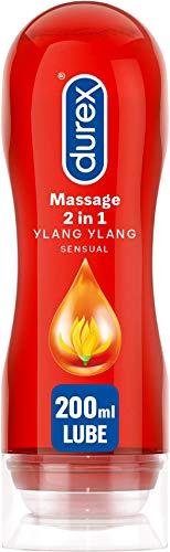 Durex Play Massage 2 en 1 Lubricante - 200 ml, Sensual (versión inglesa)