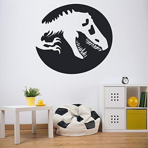 BNSDMM Tatuajes de Pared T Rex Shadow Jurassic Park Dinosaur Wallpaper Puerta Ventana Vinilo Pegatinas Niños Niños Dormitorio Nursery Home Decor 57×62Cm