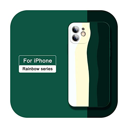 Funda de silicona para iPhone 12 Mini SE 2020 XR X XS 7 8 Plus 6 6s Carcasas para iPhone XR XS 11 12 Pro MAX Full Cover cases-16 con logo 12 o 12 Pro