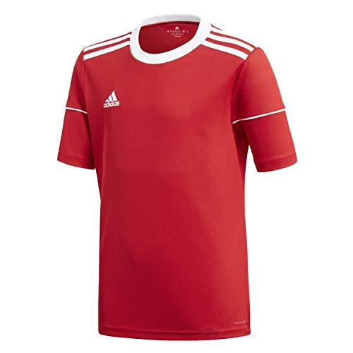 adidas Jungen Squad 17 JSY Y T-Shirt, Rojpot/Blanco, 140 (9/10 años)