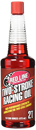 Red Line (40603) Two-Stroke Racing Motor Oil - 16 oz Motorcycle High-Performance Synthetic Engine Lubricant
