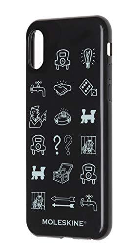 Moleskine - Carcasa Rígida Clásica Para IPhone X/XS, Funda Rígida Para Smartphone, Incluye Agenda Volant XS Para Notas, Color Negro - Diseño Monopoly