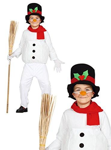Disfraz de muñeco de nieve infantil 3-4 años