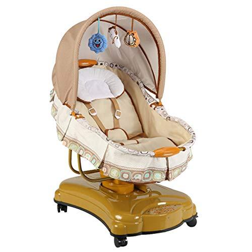 Babyschaukelstuhl mit Fernbedienung, Babywippe, elektrisches Schlafbett mit Bluetooth und Timing, Smart Shaker-Schaukelstuhl for Babywippen, Neugeborene