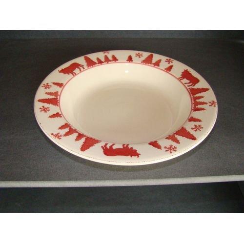TABLE&COOK Assiette creuse 'vache rouge' (lot de 6) - F360900328D0164
