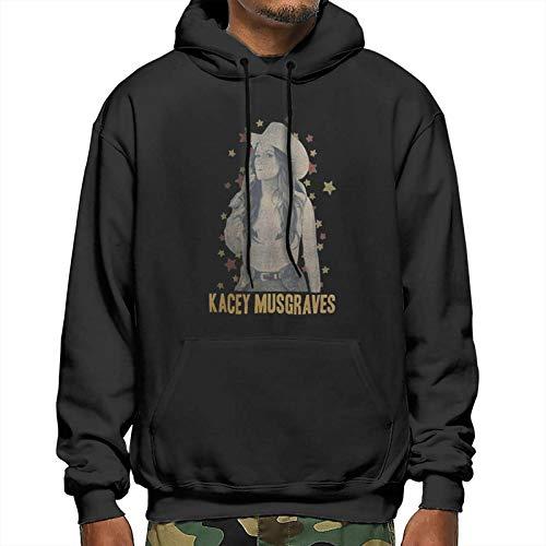 Kacey Mus-Graves Men's Fleece Hoodies Workout Thermal Sweatshirt Long-Sleeve Athletic Hooded Jacket Large Black
