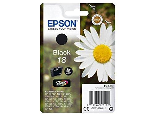Epson original - Epson Expression Home XP-30 (18 / C13T18014012) - Tintenpatrone schwarz - 175 Seiten - 5ml