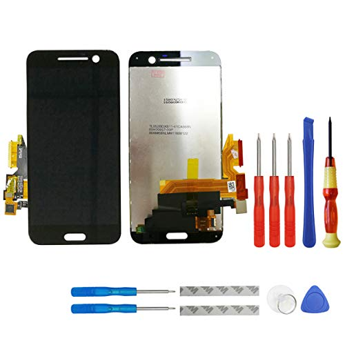 swark Display LCD Kompatibel mit HTC 10 One M10 M10U M10H (Schwarz Ohne Rahmen) LCD Display Touchscreen + Tools