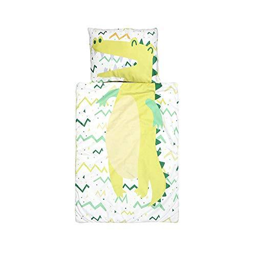 Sacchi Nanna per Bambino con Cuscino Rimovibile,Addensare Kickproof Sacco a pelo per Bambino Toddler Nap Mat Dormire Coperta Trapuntata Lavabile per Asilo Scuola Materna (Crocodile)