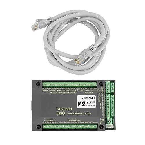 Ethernet MACH3 Motion Control-Karte, NVEM CNC-Steuerung 6 Achsen MACH3 Ethernet-Schnittstelle Motion Control Card Board mit Netzwerkkabel,für die meisten Werkzeugmaschinensysteme CNC-Gravur usw