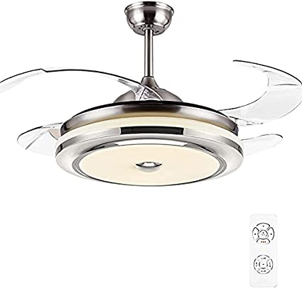 Ventilador De Techo De 72W, Luz LED Con Control Remoto, 55-62 Pulgadas, Bluetooth Con Timmer, 3 Colores De Luz, 3 Aspas Retráctiles, Cambio De Sala De Estar Del Dormitorio,Frequency conversion,4.6ft