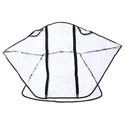 YeahiBaby Universal Regenverdeck Kinderwagen Regenschutz für Babywanne/Babywagen/Sportwagen/Babyschale/Jogger/Buggy Regenhaube mit Reißverschluss Doppeltür (Transparent)