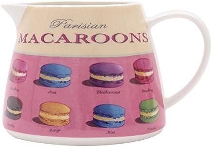 Preisvergleich für Martin Wiscombe Kleine Porzellan-Kanne, mit Macarons-Aufdruck, Mehrfarbig, 400 ml