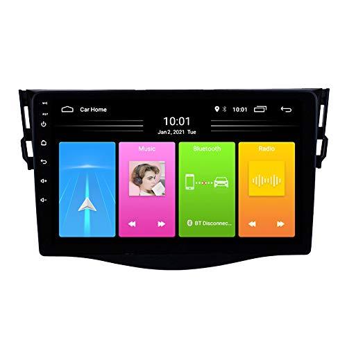 Kilcvt GPS De Navegación para Automóvil, 9 Pulgadas/Android 10 Audio Estéreo Video Radio, para Toyota Rav4 2007-2012 Soporte para Control del Volante/Llamadas con Manos Libres,WiFi: 2 32g