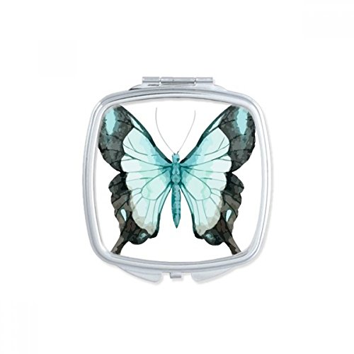 DIYthinker Carré Rose Papillon Collection Maquillage Compact Miroir de Poche Portable Mignon Petit Cadeau Miroirs Main Multicolor