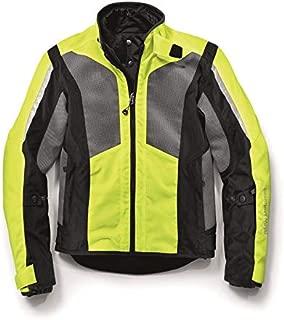 BMW Genuine Motorcycle Men'S Airshell Jacket EU-52  USA-42 Neon Yellow / Gray