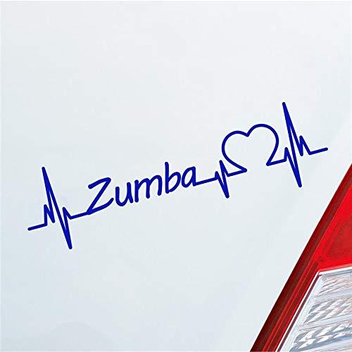 Hellweg Druckerei Auto Aufkleber Zumba Herzschlag Tanzen Musik Rhythmus Sport Sticker Liebe Dunkelblau