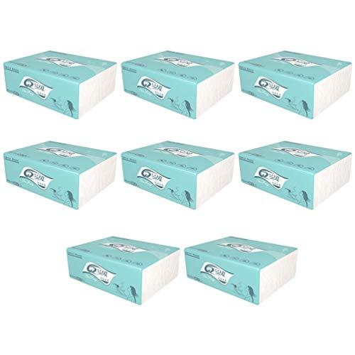 Milisten 16 Pezzi di Carta Igienica Sfusa in Legno di Cellulosa Liscia Carta Igienica Tovagliolo di Carta Asciugamani di Carta Asciugamani per Cucina Bagno Ristorante Dell'hotel