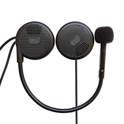 FreedConn Motorrad Helm Headset Bluetooth Gegensprechanlage Headset Wireless Helmet Kopfhörer für Motorrad Motorrad Helm Headsets Kopfhörer Mikrofon MP3 Dedicated Helm Headset Kopfhörer