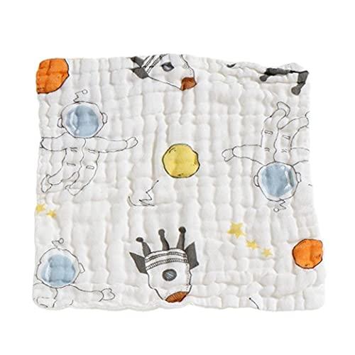 Baby Muslin Squares Baby Burp Paños Niño Niño Impermeable Saliva Toalla De Algodón Cuadrados Handkerchiet Astronauta