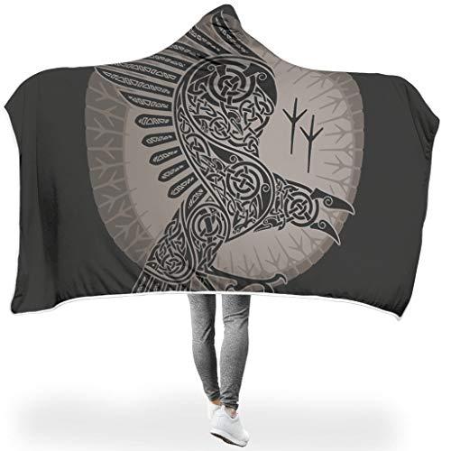 Charzee adelaar serietapijt, hooded blanket microvezel soft-mantel slaapdeken woondeken winter TV microvezel deken voor kinderen