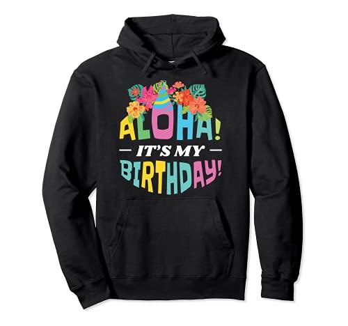 Aloha Hawaii Compleanno Compleanno Felpa con Cappuccio