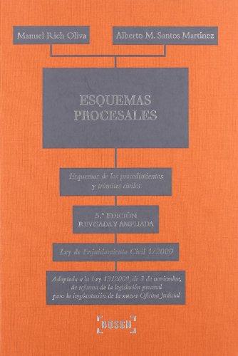 Esquemas procesales: Esquemas de los procedimientos y trámites civiles. LEC 1/2000. Adaptada a la Ley 13/2009, de 3 de noviembre