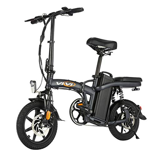 Vivi Folding Electric Bicycle Ebike, Small Electric Bike for Adults and Teens, 20Mph with 48V 20Ah Removable Battery, 350W Motor and UP to 60 Miles(US Stock)