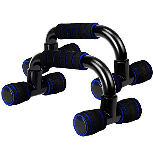 Jusduit Liegestützgriffe Liegestütze, Professional Liegestütze 2er-Set Liegestütz Griff mit rutschfeste,Push up Bars für Fitness,Gymnastik,Muskeltraining und Krafttraining (Schwarz Blau)