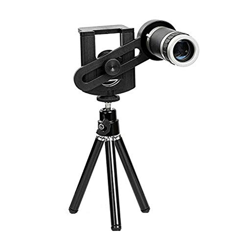 Frittle GWM346 8X Optical Zoom Telescope Mobile Camera Lens Kit with Tripod & Adjustable Holder Compatible with All Smartphone & Others Devices (Multi Colour)