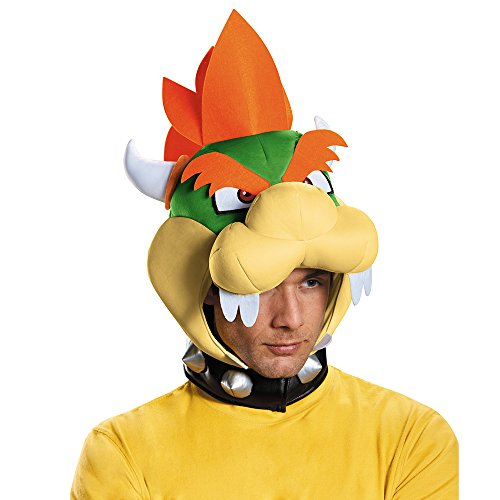 Disguise Men's Bowser Headpiece Costume Accessory - Adult, Multi, One Size