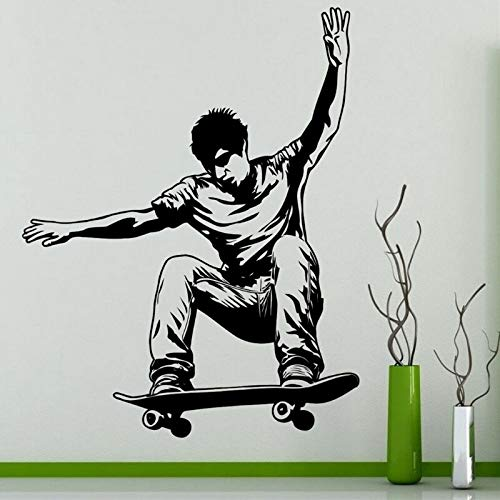 Skateboard Aufkleber Aufkleber Skifahren Eissport Poster Vinyl Wandtattoo 74x93cm