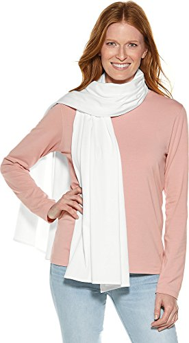 Coolibar UPF 50+ Women's Sanibel Everyday Beach Shawl - Sun Protective (One Size- White)