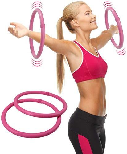 GD-ZXZ Arm Hula Hoop Fettverbrennung Übungsbalance Cellulite-Massagegerät Beseitigen Dünner Arm Rosa Paar 33 cm Durchmesser?Fitnessreifen