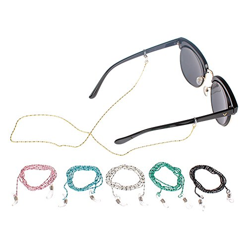 Soleebee Soleebee 6 Stück Universal Brillen Ketten Perlen Schnur Multicolor Mode Metall Brillenband/Brillenkette/Brillen Cord/Sonnenbrille kette Hals Lanyard/Brillenhalter Hals Cord Strap