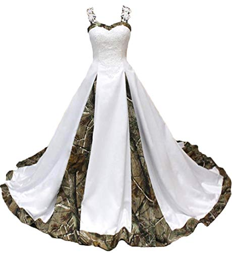 YJNXHN Women's Camo Wedding Dresses for Bride Plus Size Prom Party Dress Bridal Gown 1 20 Plus