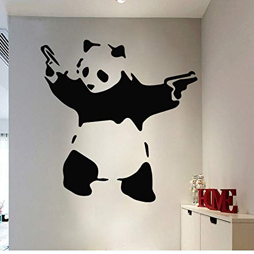Tianpengyuanshuai Niedlicher Panda Wandaufkleber Kung Fu Vinyl Wasserdichter Wandaufkleber Abnehmbar 87X88cm
