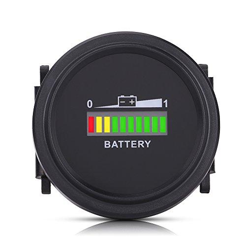 EBTOOLS Indicatore di batteria digitale a LED, 12V / 24V / 36V / 48V / 72V Indicatore di batteria Indicatore di livello IP65 Indicatore di stato della batteria Led Tester