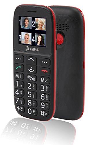 Olympia Bella 2214 - Handy für Senioren ohne Vertrag Seniorenhandy große Tasten einfaches Smartphone für Senioren Rentner mit Kamera 1.7