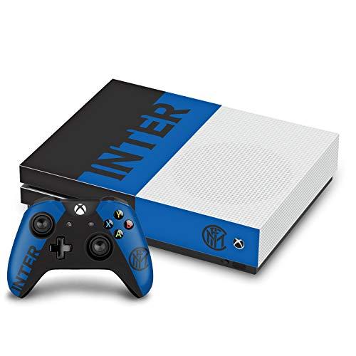 Head Case Designs Licenza Ufficiale Inter Milan Blu E Nero Logo Pieno Vinile Sticker Pelle Adesivo Compatibile con Xbox One S Console And Controller Bundle