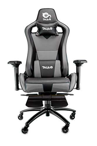 Talius Caiman Silla Gaming Profesional con reposapiés Extraible, Inclinación y Altura Regulable, r