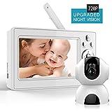 Bable Babyphone avec Caméra, 720P & 5 Pouces Vidéo Moniteur Bébé avec Caméra de Vision Nocturne...