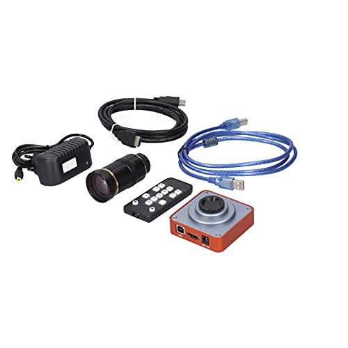 Wosune Cámara Industrial, cámara de microscopio electrónico 64GB para EU AC100‑240V