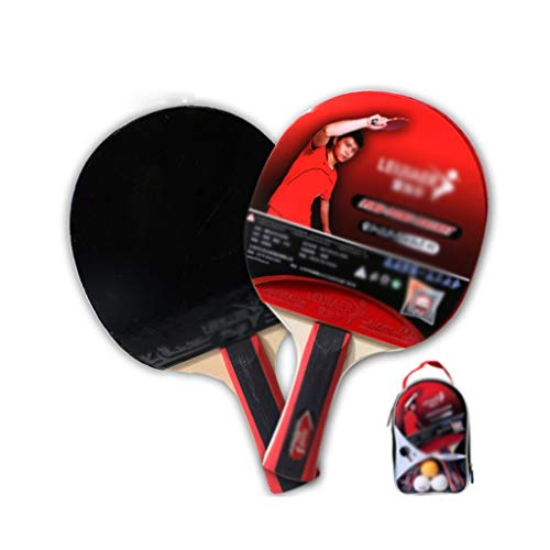 Affordable LFLLFLLFL Ping Pong Paddle, Portable Table Tennis Rackets Indoor Leisure Sport Daily Trai...